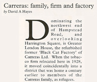 Carreras: Family, Firm, Factory by David A. Hayes